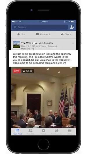 facebook-live-white-house-sample-description