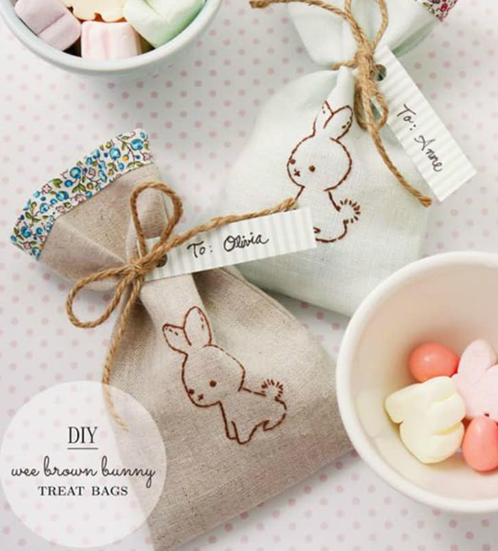 Bunny Treat Bags2 The 10 Best adorable Easter DIY gift inspirations & printables
