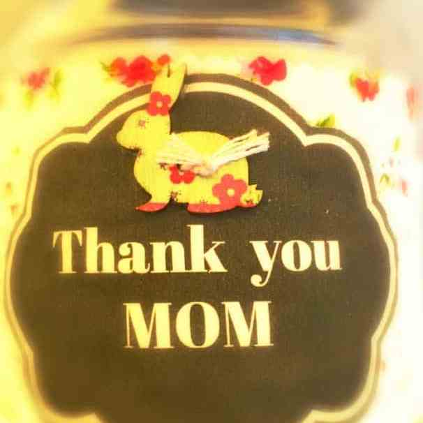 Thank you Mom fabric tag How to make an adorable printed fabric tag for Mothers Day