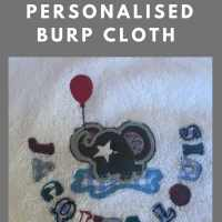 How to make a cute personalised burp cloth with bias - www.easyonthetongue.com