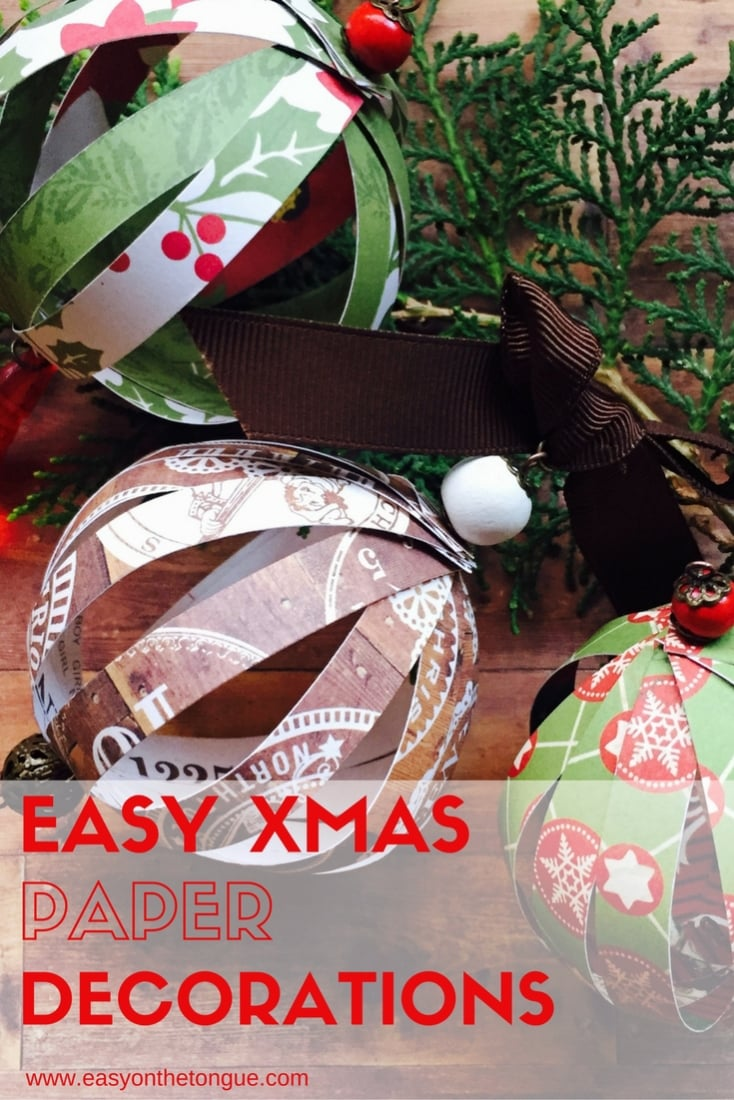 Easy Christmas Paper Decorations Pinterest How to make easy Christmas Paper Ball Decorations