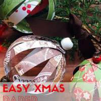 How to make easy Christmas Paper Ball Decorations - get full tutorial at www.easyonthetongue.com