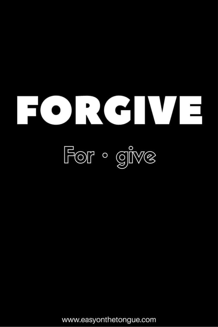 Forgive Will 'Forgive' really set you free?