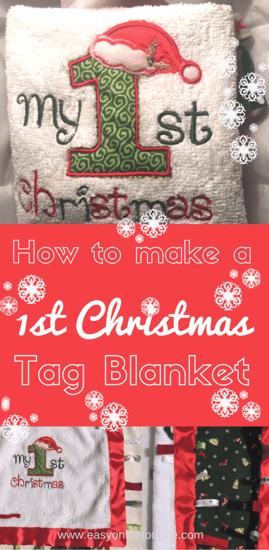 1How to make a My First Christmas tag blanket Pinterest How to make a 'My First Christmas' Tag Blanket