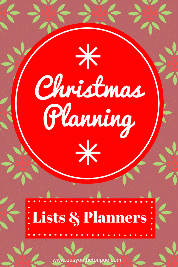 Christmas Planning Lists Planners What I have to plan for the Christmas