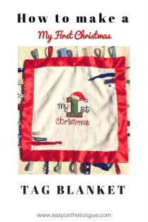 How to make a My First Christmas Tag Blanket Pinterest2 Celebrate the birth of a new baby – Free Birdie Printable