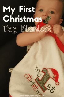 How to make a my first Christmas tag blanket P Our gift to you – free 'Merry Christmas' embroidery download