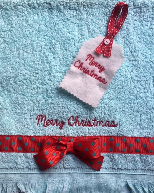 Merry christmas ideas 1 Our gift to you – free 'Merry Christmas' embroidery download