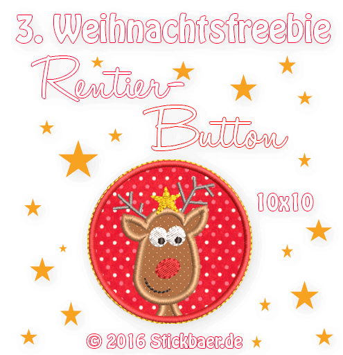 Reindeer Stickbär Weihnachtsfreebie Rentier The Most Special Free and Paid Rudolph Christmas Embroidery Designs