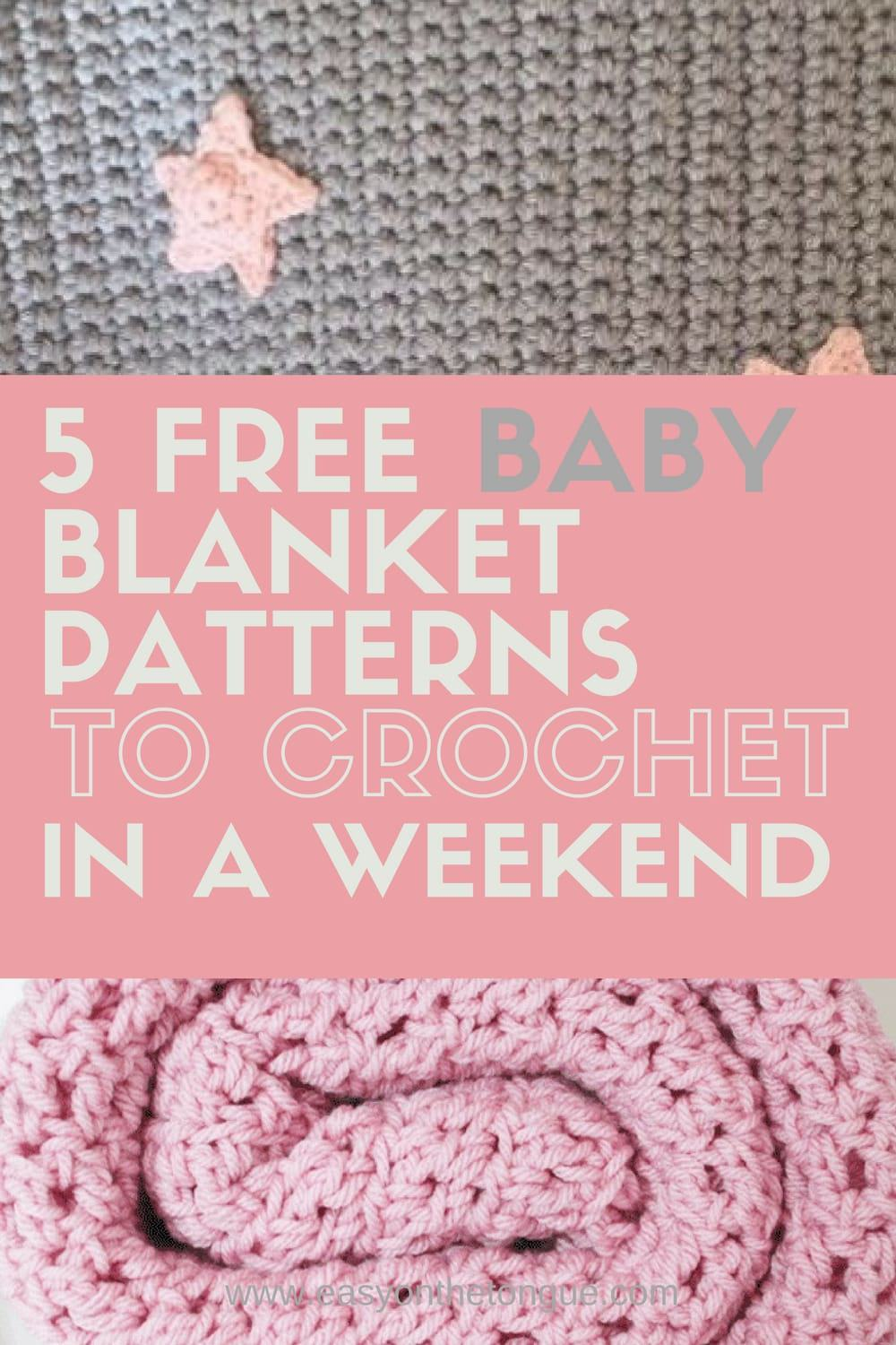 12 Free Baby Blanket Patterns to Crochet in a Weekend