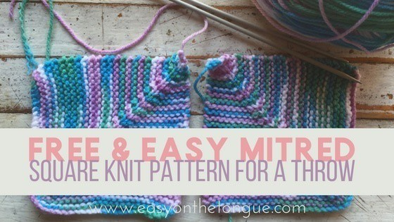 Variation On Easy Quick Knit Square Free Pattern