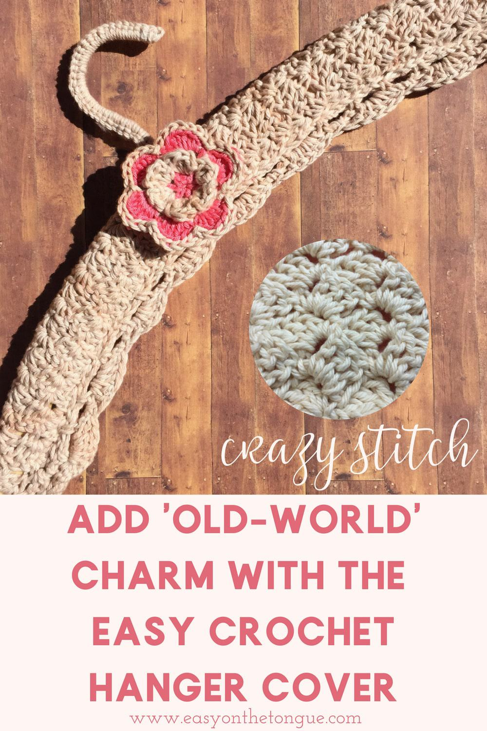 How To Add Old World Charm With This Easy Crochet Hanger Cover