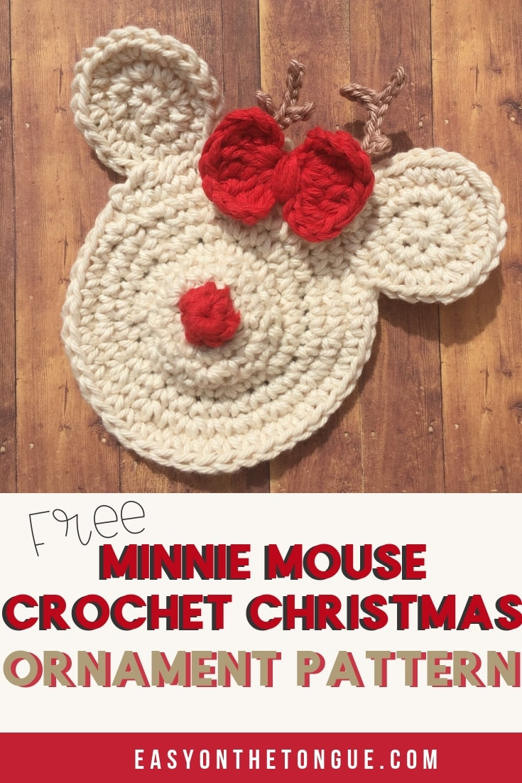 minnie mouse crochet christmas ornament christmascrochet xmasornament minnie mouse christmas ornaments free crochet pattern for