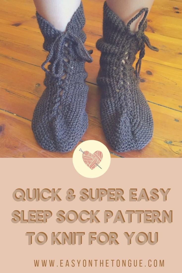 Quick Super Easy Sleep Sock Pattern To Knit For You