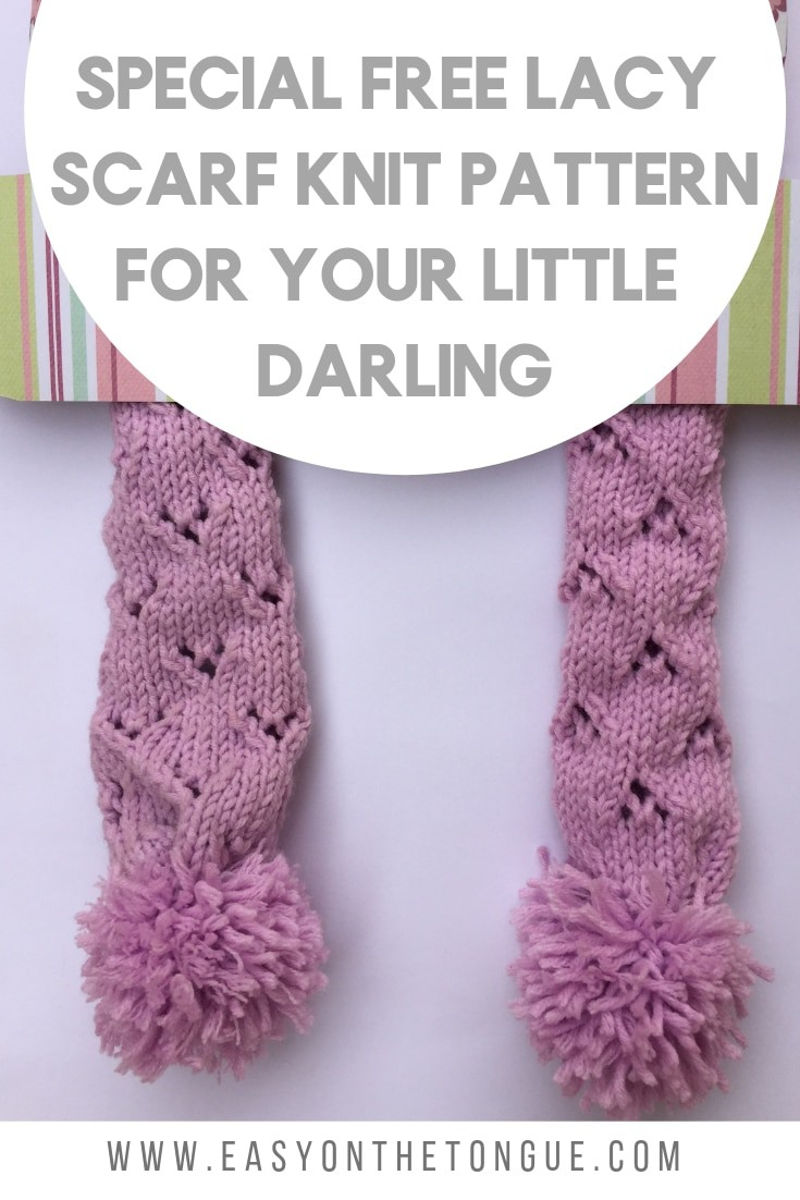 Special Free Lacy Scarf Knit Pattern For Your Little Darling