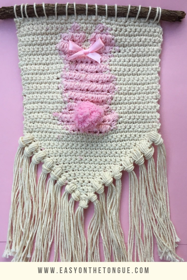Quick And Easy Free Crochet Bunny Wall Hanging Pattern