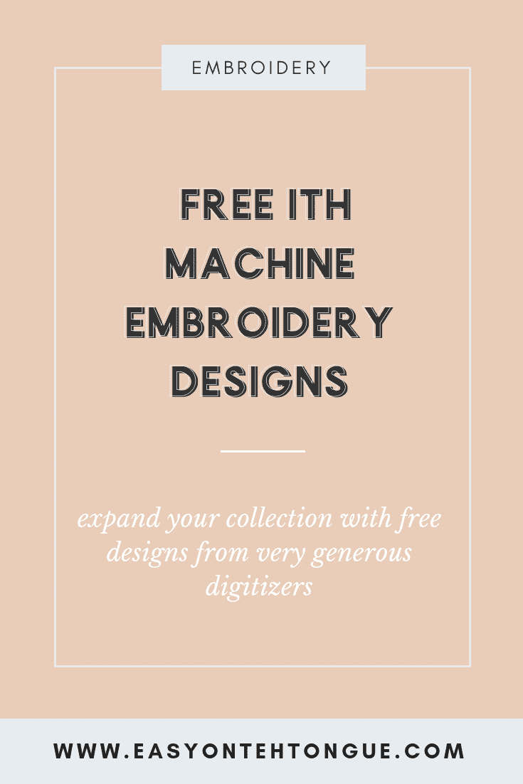 15 Free In the Hoop Designs (ITH)