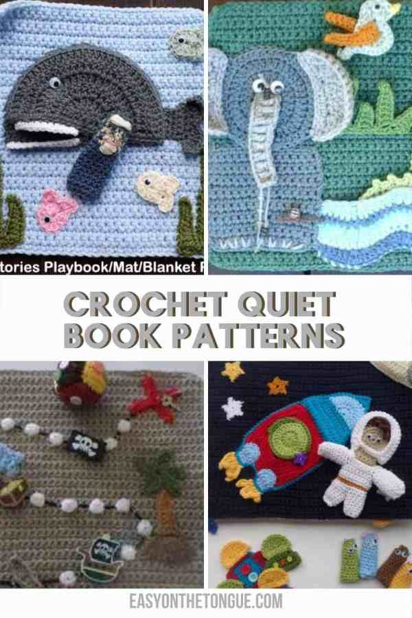 Crochet Quiet Book o Playbook Patterns diseñado por Creative Crochet Workshop crochetquietbook crochetpattern playbookcrochetpatterns Cómo tejer libros tranquilos