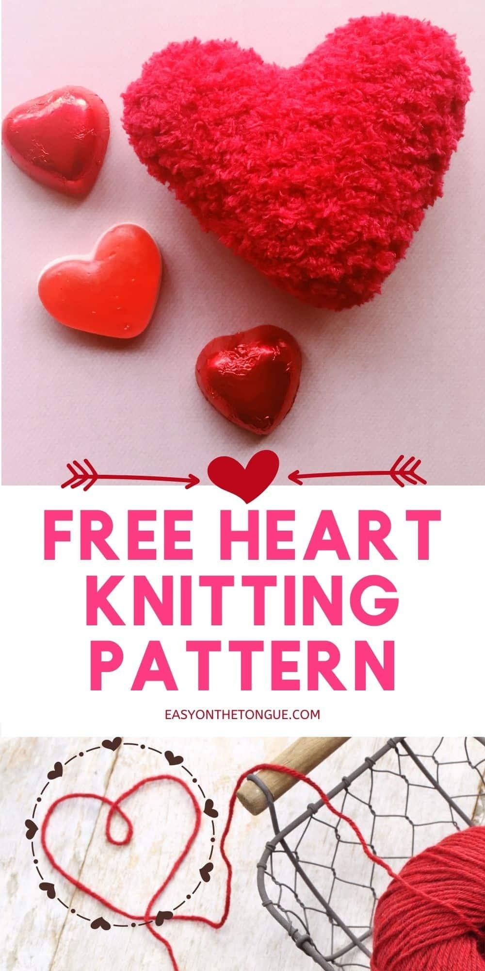 Patrón de tejido de corazón gratuito en easyonthetongue.com Cómo tejer un corazón, patrón de tejido gratuito