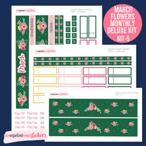 Leaf-green-pink-flower-functional-planner-stickers