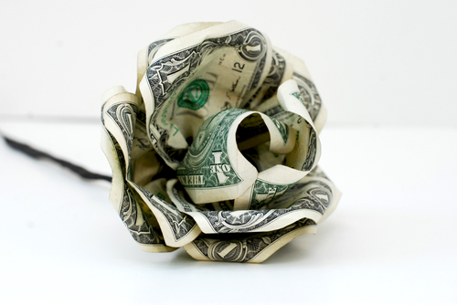 Paper Flower From Dollar Bills