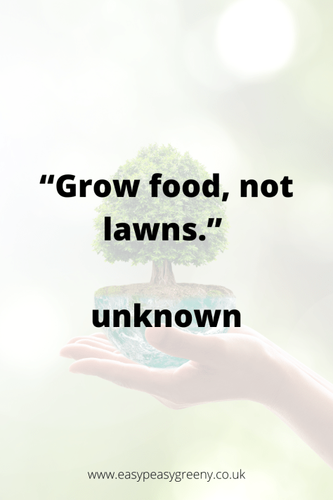 Grow food, not lawns quote
