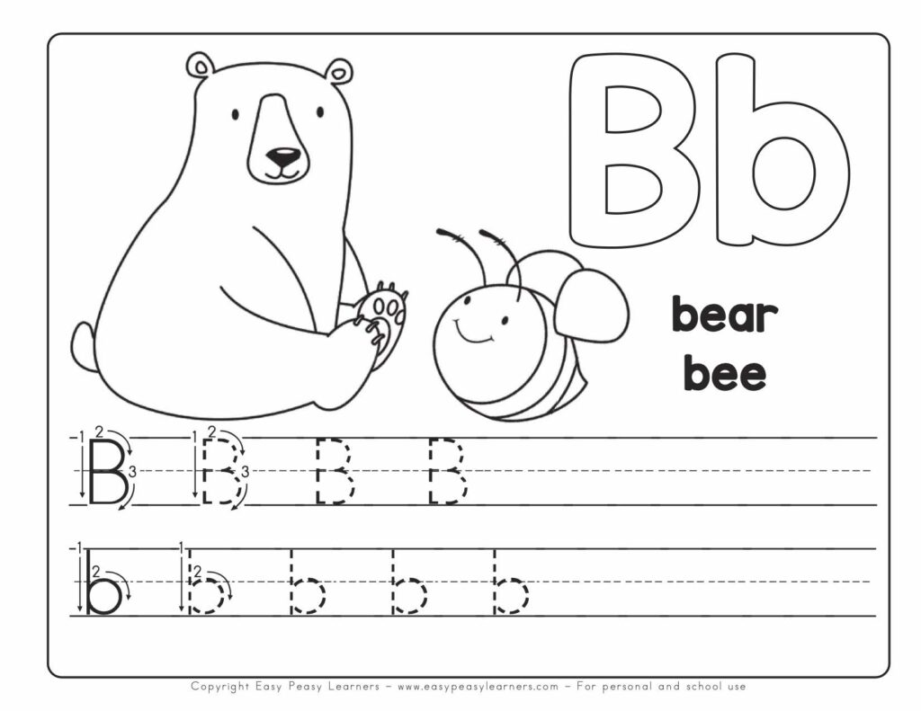 My Printable Alphabet Book Abc Letter B