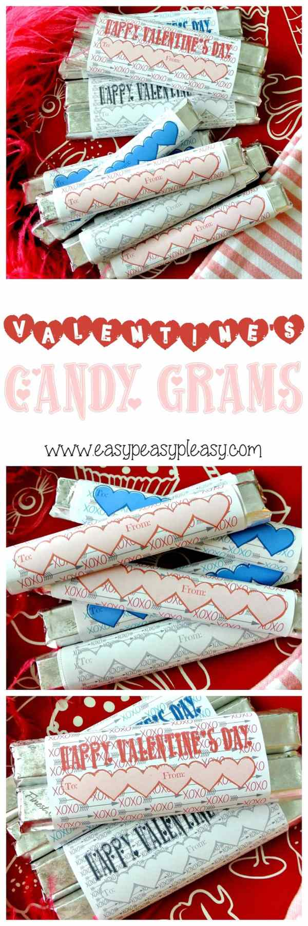 Free Printable Valentine's Day Candy Grams - Easy Peasy Pleasy