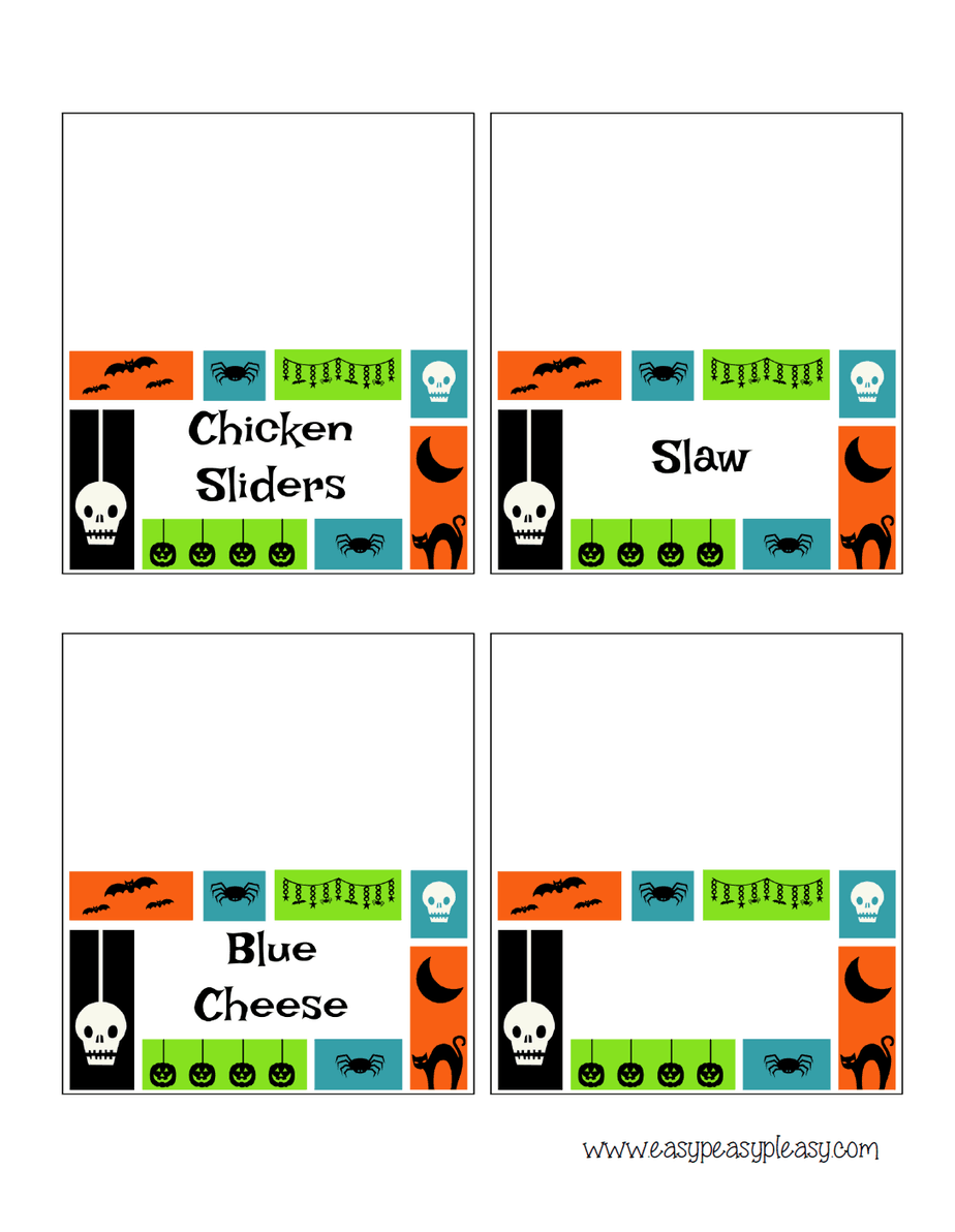 Spooky Chicken Slider Bar Halloween Printables