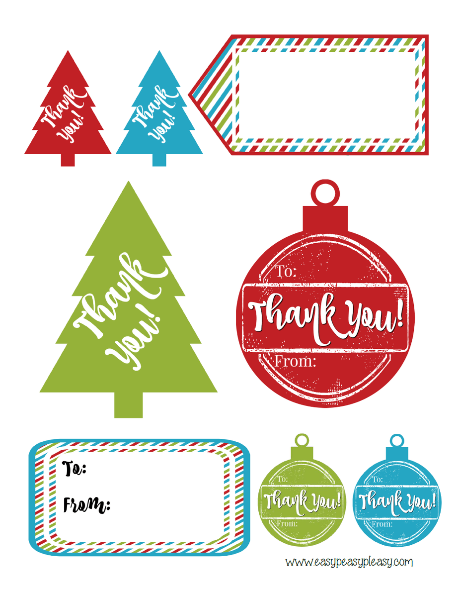 Free Printable Holiday Hostess T Tags