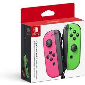 Nintendo Switch Joy-Con Pair, Neon Pink and Neon Green