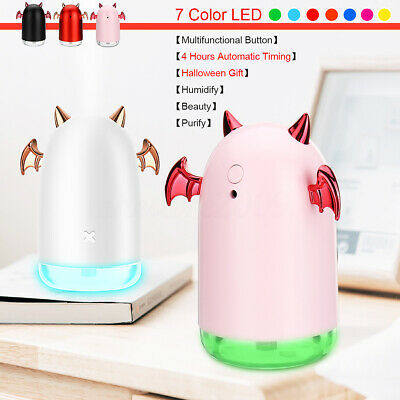 7 LED Humidifier USB Purifier Mist Aroma Essential Oil Diffuser Halloween Gift