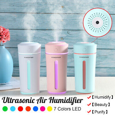 USB Aroma Humidifier Essential Oil Diffuser Aromatherapy Purifier 7 Colors LED