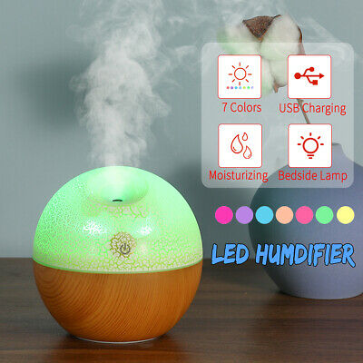 USB LED Humidifier Aroma Ultrasonic Aromatherapy Essential Oil Mist Air Diffuser