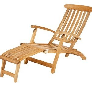Barlow Tyrie Commodore Teak Recliner - Standard
