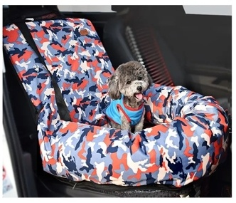Camouflage Pet Car Seat Bed