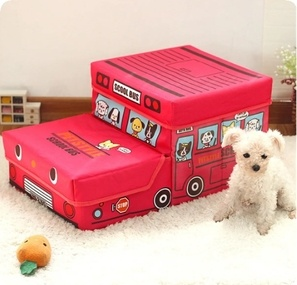Portable 2-Steps Dog Cat Pet Stairs Ramp Sofa Bed