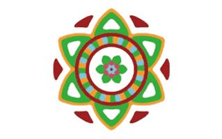 Haldi Kumkum Rangoli Design
