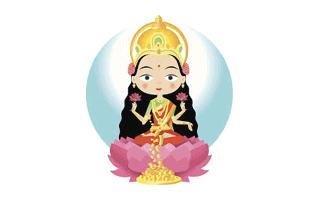 Lakshmi Rangoli Design