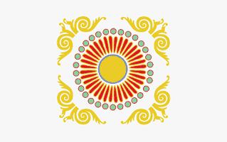 Message Rangoli Design
