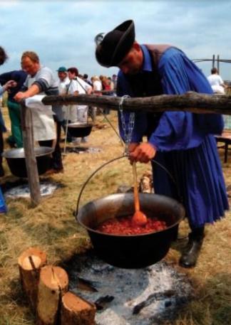 hungarian gulyas cooking