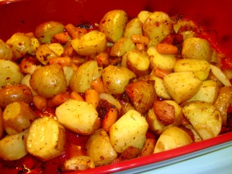 oven roasted potatoes and veggies 5