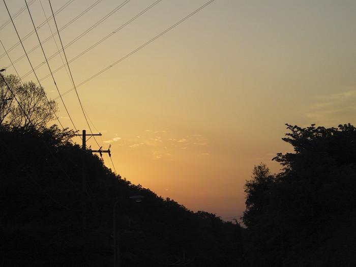 清滝峠頂上の朝焼け