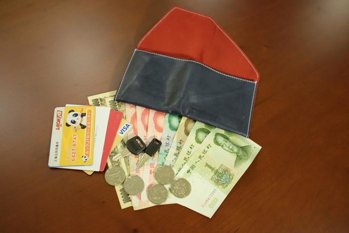 実際に使っている旅行財布の中身