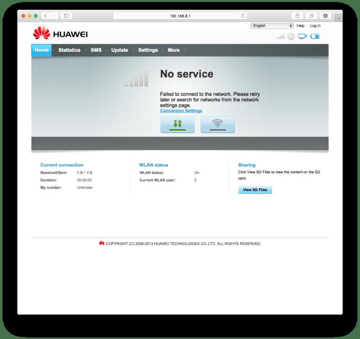 """管理画面""""No service""""表示"""