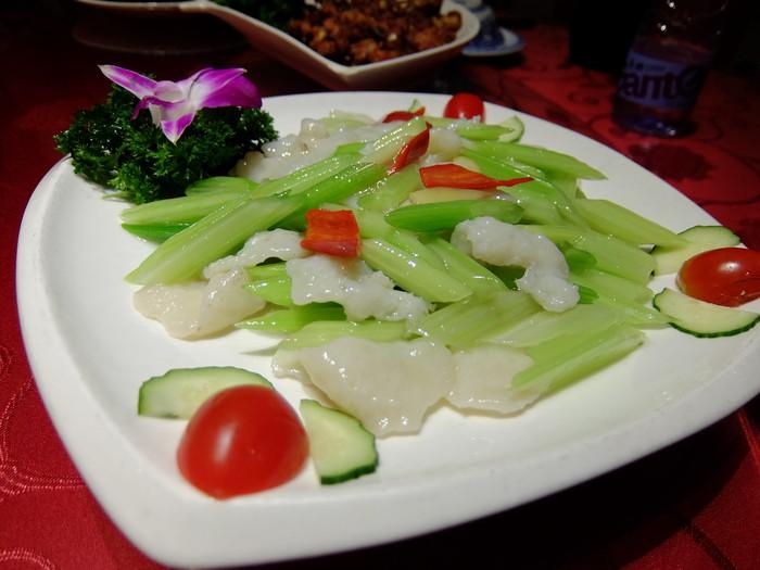 セロリの炒め物