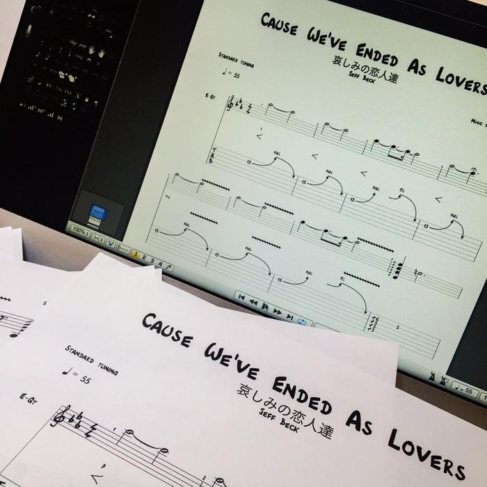 Guitar Pro 6 が演奏するジェフ・ベック「哀しみの恋人達」