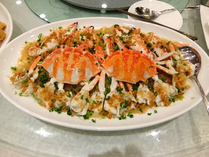 中国でいただいた蟹料理