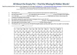 The Empty Pot A Chinese Folk Story About Honesty Worksheet