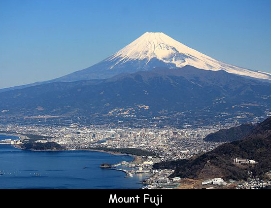 While mount fuji looks like an ordinary mountain, it is made up of three active volcanoes. Fun Facts For Kids About Mount Fuji